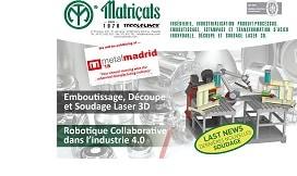 Soudage Robotisé. Société leader dans l'Emboutissage, la Découpe et le Soudage laser 3D à Metalmadrid 2018
