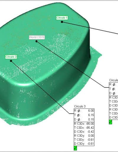 Proceso de digitalización láser 3D