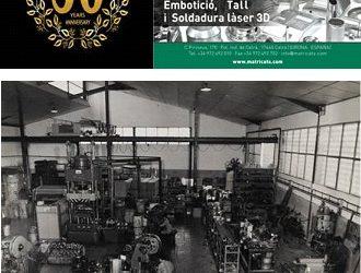 MATRIÇATS, empresa lider en embutición, corte y soldadura láser 3D, ha cumplido su 50º Aniversario.