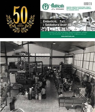 MATRIÇATS, leader company in drawing, cutting and 3D laser welding, has celebrated its 50th Anniversary.